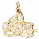 14K GOLD SAYING CHARM - #1 GRANDPA #10037