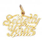 14K GOLD SAYING CHARM - SECRETLY YOURS #10311
