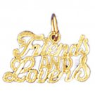 14K GOLD SAYING CHARM - FRIENDS AND LOVERS #10310
