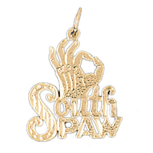 14K GOLD SAYING CHARM - SOUTH PAW #10516