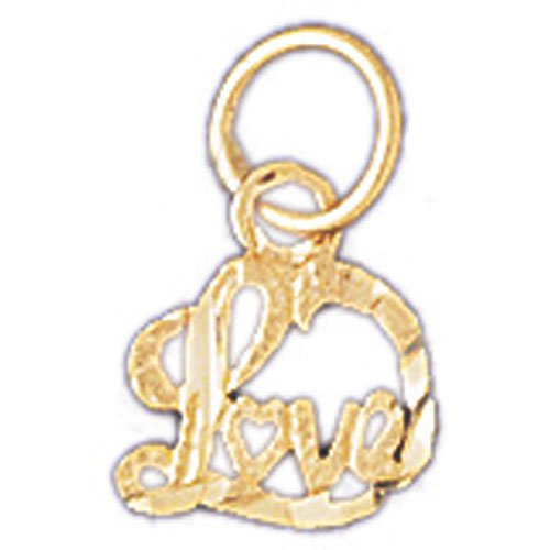 14K GOLD SAYING CHARM - LOVE #10223