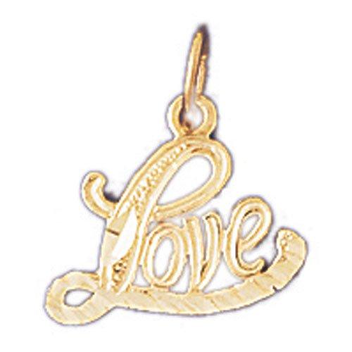 14K GOLD SAYING CHARM - LOVE #10220