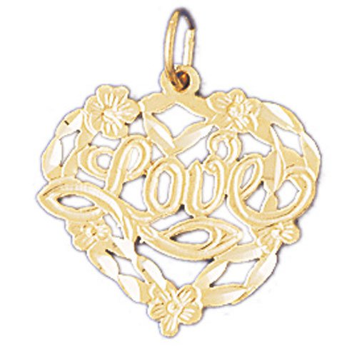 14K GOLD SAYING CHARM - LOVE #10204