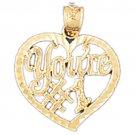 14K GOLD SAYING CHARM - YOU'RE #1 #10272