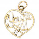 14K GOLD SAYING CHARM - YOU'RE #1 #10271