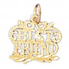14K GOLD SAYING CHARM - BEST FRIEND #10387