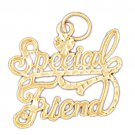 14K GOLD SAYING CHARM - SPECIAL FRIEND #10378