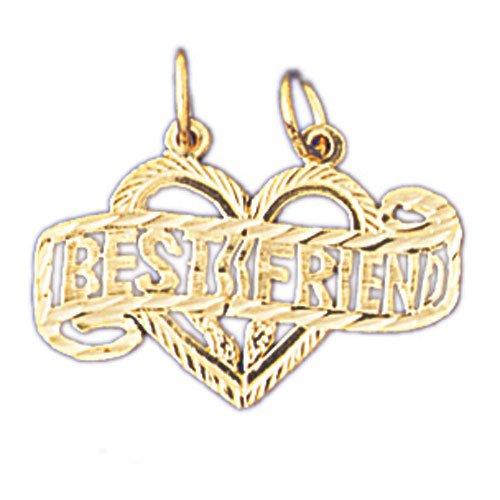 14K GOLD SAYING CHARM - BEST FRIEND #10367
