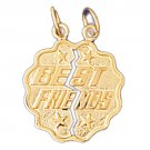 14K GOLD SAYING CHARM - BEST FRIENDS #10361