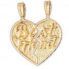 14K GOLD SAYING CHARM - BEST FRIEND #10349
