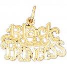 14K GOLD SAYING CHARM - BLACK PRINCESS #10418
