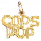 14K GOLD SAYING CHARM - COPS POP #10921