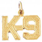 14K GOLD SAYING CHARM - K-9 #10915