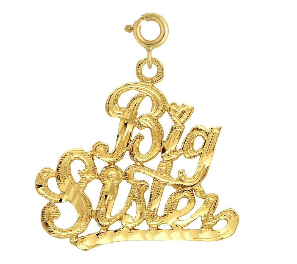 14K GOLD SAYING CHARM - BIG SISTER #9940