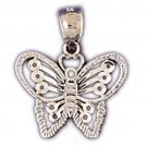 14K WHITE GOLD ANIMAL CHARM - BUTTERFLY #11102