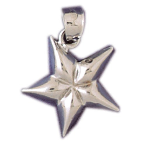 14K WHITE GOLD CHRISTMAS CHARM - STAR #11333