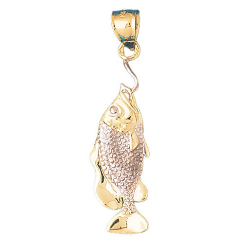 14K GOLD TWO TONE NAUTICAL CHARM - LOBSTER #186