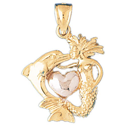 14K GOLD TWO TONE NAUTICAL CHARM #181