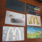 McDonalds / Mac Donalds COLLECTOR GIFT CARDS - Lot of 6, NEW 2014