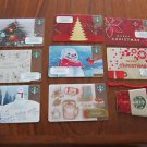 STARBUCKS GIFT CARDS - SET OF 9 BILINGUAL (French, English), CHRISTMAS, NEW