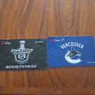 LOT OF 2 TIM HORTONS / TIM HORTON'S COLLECTOR GIFT CARDS - Vancouver Canucks