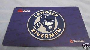TIM HORTONS / TIM HORTON'S COLLECTOR GIFT CARDS - Langley Rivermen 2014 FD42380