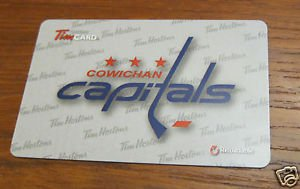 TIM HORTONS COLLECTOR GIFT CARD - Cowichan Capitals, 2015, FD48225, NEW