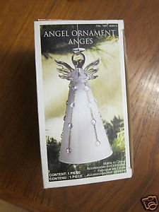 "Christmas Tree Decoration - Ornament - Beautiful Glass Angel, 5"" high (13cm)"