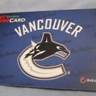 2012 TIM HORTONS / TIM HORTON'S COLLECTOR GIFT CARDS Vancouver Canucks  FD26712