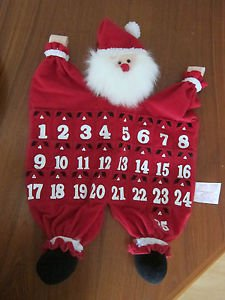 Vintage Christmas Fabric for Hanging Santa Advent Calendar from AVON