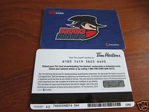 TIM HORTONS COLLECTOR GIFT CARD - Brooks Bandits FD42397
