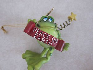 Doug Harris Toadily Yours Russ Berrie Figurine - Frog / Toad PEACE ON EARTH