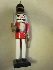 "Nutcracker, 14"" (36cm)  high, wooden, Christmas decoration"