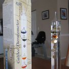 "14.5"" (37cm) GALILEO Glass & LIQUID Fluid EXPANSION Thermometer"