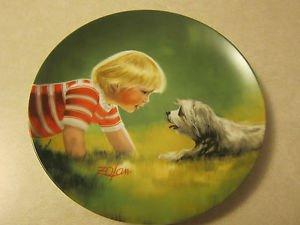Collector Plate Making Friends by Donald Zolan, Pemberton & Oaks