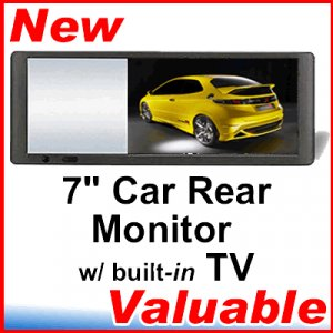 "7"" TFT LCD Car Rear View TV Monitor for DVD CD MP3"