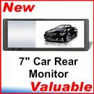 "7"" TFT LCD Car Rear View Monitor for DVD CD TV MP3"