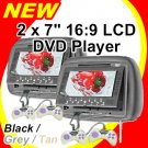 "2 x 7"" LCD Headrest DVD VCD CD MP3 JPG Player (Beige, grey and black colour available)"