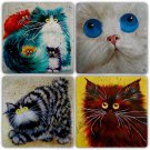 Cats - Stone Coasters - Set of 4 pcs. - 10 x 10 cm - 07
