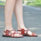 New arrival handmade leather brown sandal for women Jerusalem classic shoe