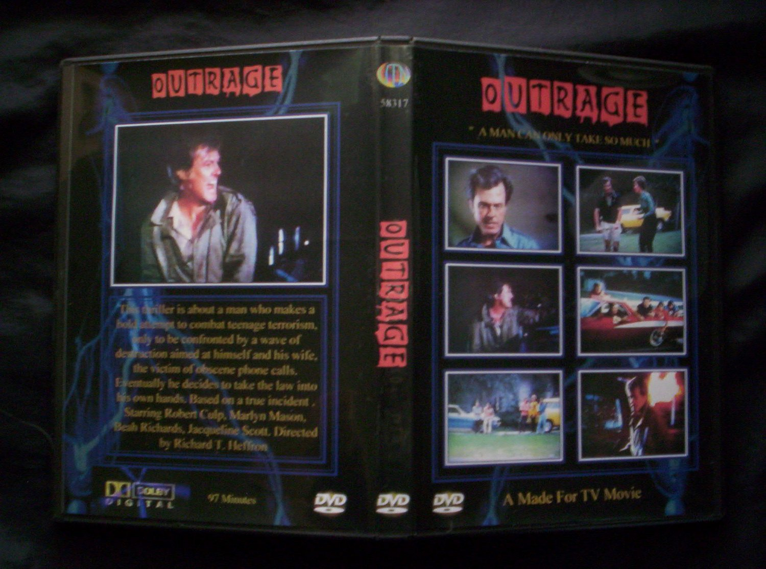 OUTRAGE DVD, 1973 Made for TV Movie, Robert Culp