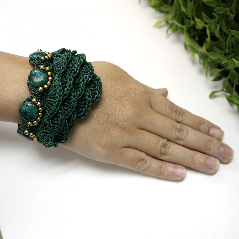 Gypsy street fashion style bracelet (Green)