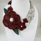 Red Spring Flower Necklace