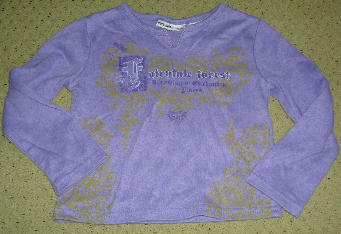 Girls Purple Fairy Enchanted Forest Shirt 4T
