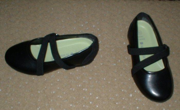 Girls Black Ballerina Flats 8 1/2 8.5 Dress Shoes Toddler