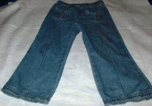 Girls Front Pocket Unfinished Hem Pants 3T