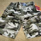 Boys NWT Adjustable Waist Camouflage Cargo Shorts Size 8