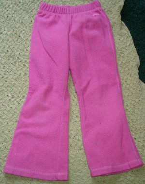 Girls Pink Fleece Pants 4T