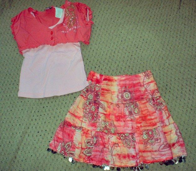 Girls Size 4 Shrug and Skirt Set