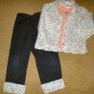 Girls 3 Pc Jacket and Pants set size 4